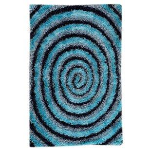 Find Landscape Hand-Tufted Blue/Black Area Rug ByM.A. Trading
