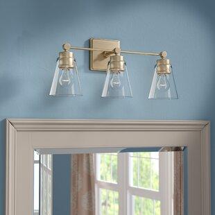 Antique Brass Bathroom Vanity Lighting Youll Love Wayfair - Brass bathroom vanity light fixtures