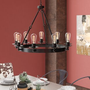 Trent Austin Design Hines 9-Light Wagon Wheel Chandelier