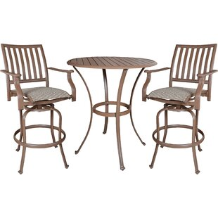 Panama Jack Outdoor Island Breeze 3 Piece Bar Height Dining Set