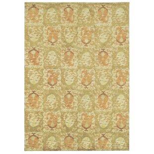 Martha Stewart Reflection Hand-Knotted Wool/Silk Green Area Rug by Martha Stewart Rugs