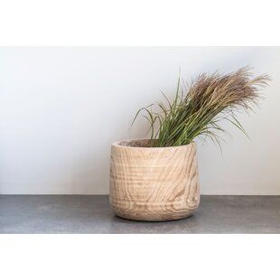 Keen Straight Natural Paulownia Wood Planter by Bungalow Rose