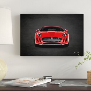 'Jaguar F-Type, Front' Graphic Art Print on Canvas ByEast Urban Home