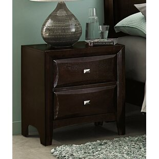 Mitch 2 Drawer Nightstand by Winston Porter