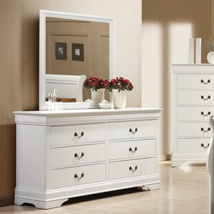 Laurel Foundry Modern Farmhouse Tina 6 Drawer Dresser with Mirror