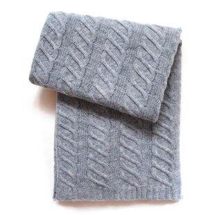 Great deal Chunky Cable Wool Blend Baby Blanket ByEsteffi