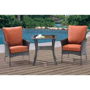 Brayden Studio Billington 3 Piece Bistro Set with Cushions