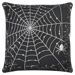 holiday spider web 100 cotton throw pillow - Halloween Pillows