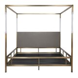 Bowdoin Upholstered Low Profile Canopy Bed by Everly Quinn