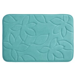 Blowing Leaves Plush Memory Foam Bath Mat