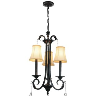CWI Lighting Marilyn 3-Light Shaded Chandelier