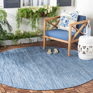 Ephraim Blue Indoor/Outdoor Area Rug by Highland Dunes