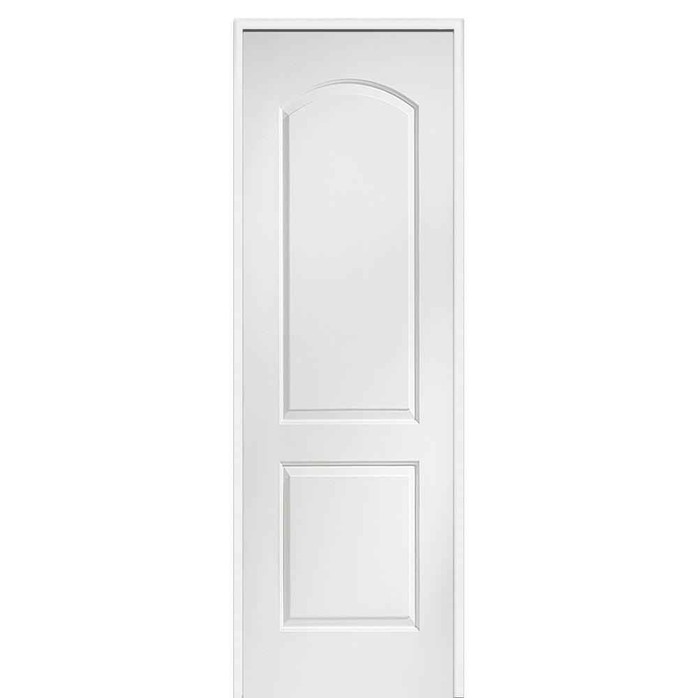Caiman Arch Top Primed Single MDF Panelled Prehung Interior Door  sc 1 st  Wayfair & Prehung Interior Double Doors | Wayfair