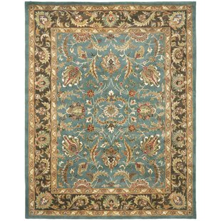 Great Price Cranmore Hand-Tufted Wool Blue/Brown Area Rug By Charlton Home