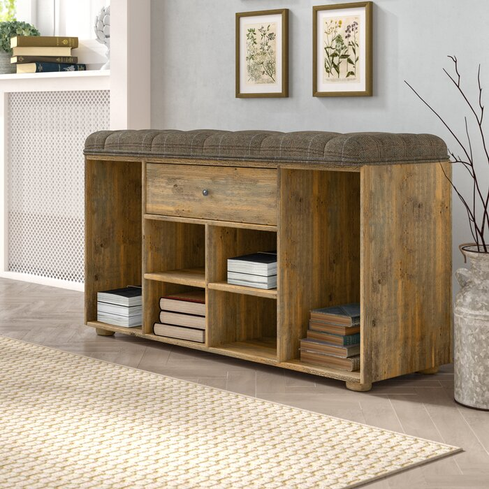 Excellent Alina Wood Storage Hallway Bench Ncnpc Chair Design For Home Ncnpcorg