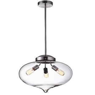 Ginnifer 3-Light Schoolhouse Pendant by Wrought Studio