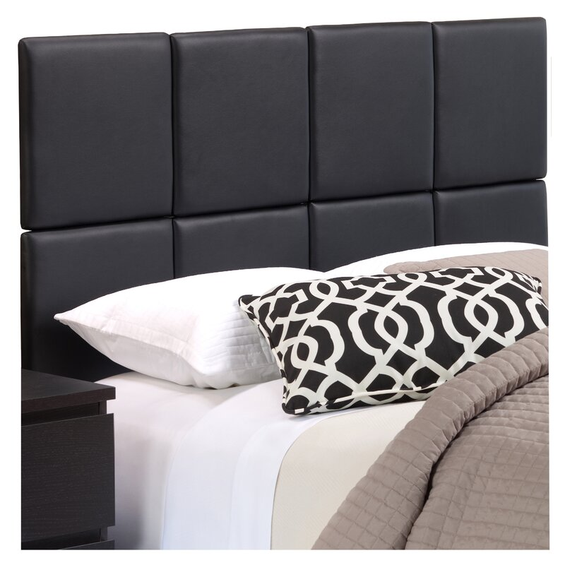 Zanna Upholstered Panel Headboard Reviews Allmodern - Logan-leather-bed-with-adjustable-headboard