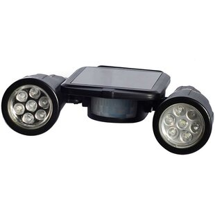 LED Solar Outdoor Security Outdoor Spotlight with Motion Sensor by Myfuncorp