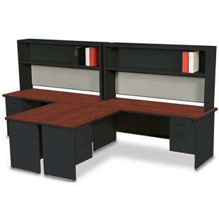 Red Barrel Studio Crivello L-Shape Executive Desk with Hutch