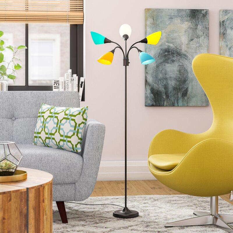 "Ebern Designs Chang 67.75"" Tree Floor Lamp & Reviews"