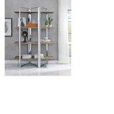 Wellsburg 72 H x 47 W Metal Etagere Bookcase by Orren Ellis
