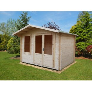 11.5 X 10 Ft. Tongue & Groove Log Cabin By Sol 72 Outdoor