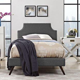 Ebony Upholstered Platform Bed by Andover Mills