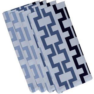 Cuff-Links Geometric Napkin (Set of 4) by e by design