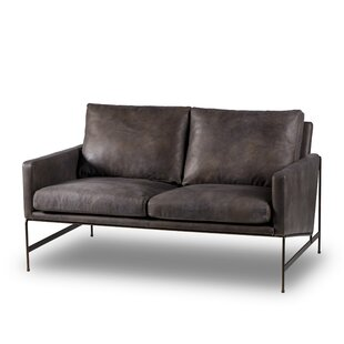 Thomas Bina Leather Loveseat