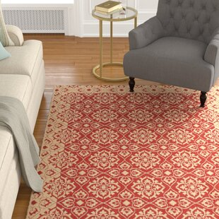 Lynn Red/Creme Indoor/Outdoor Area Rug
