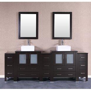 Brisson 96 Double Bathroom Vanity Set with Mirror by Bosconi