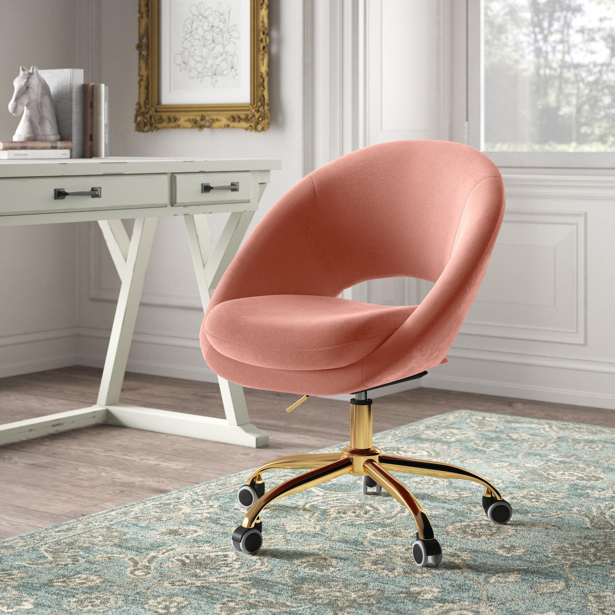 Lourdes Velvet Task Chair