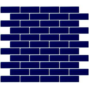1 X 3 Gl Subway Tile In Navy Blue