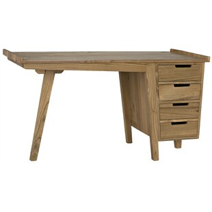 Kennedy Solid Wood Writing Desk by Noir Discount
