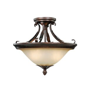 Bruhn 2-Light Semi Flush Mount by Fleur De Lis Living