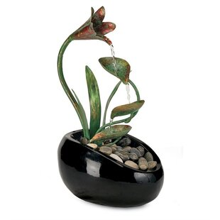 Lumsden Fiberglass Lily Water Fountain By Sol 72 Outdoor