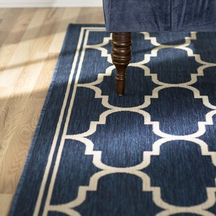 Rockbridge Navy/Beige Indoor/Outdoor Area Rug