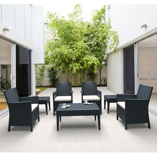 Racheal 7 Piece Conversation Set with Cushions by Brayden Studio