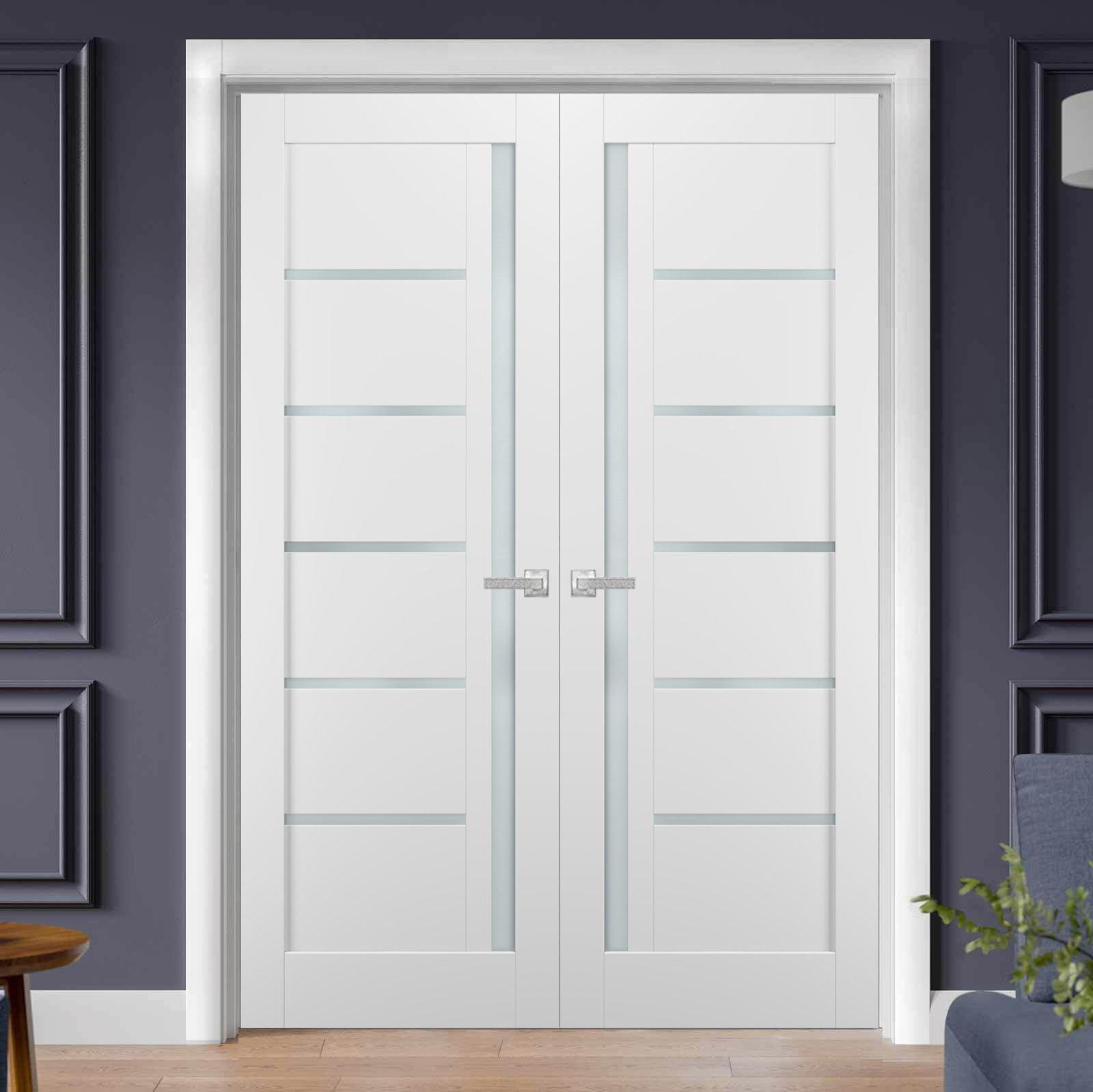 Sartodoors Quadro Glass French Doors With Installation Hardware Kit Wayfair