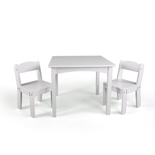 Read Reviews WonkaWoo Deluxe Children's 3 Piece Table and Chair Set By Sunnywood