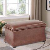 Mettawa Faux Leather Flip Top Storage Bench by Red Barrel Studio®