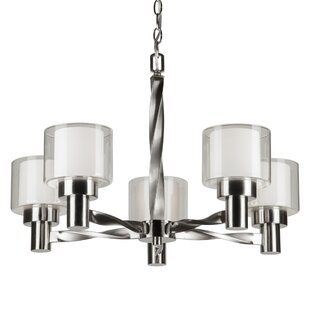 Ebern Designs Machado 5-Light Shaded Chandelier