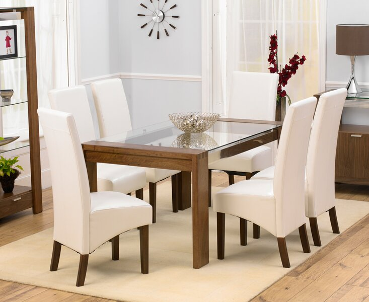 table 6 chairs. luca dining set with 6 chairs table ,