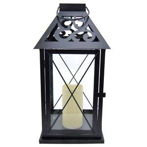 LED Candle Metal Lantern