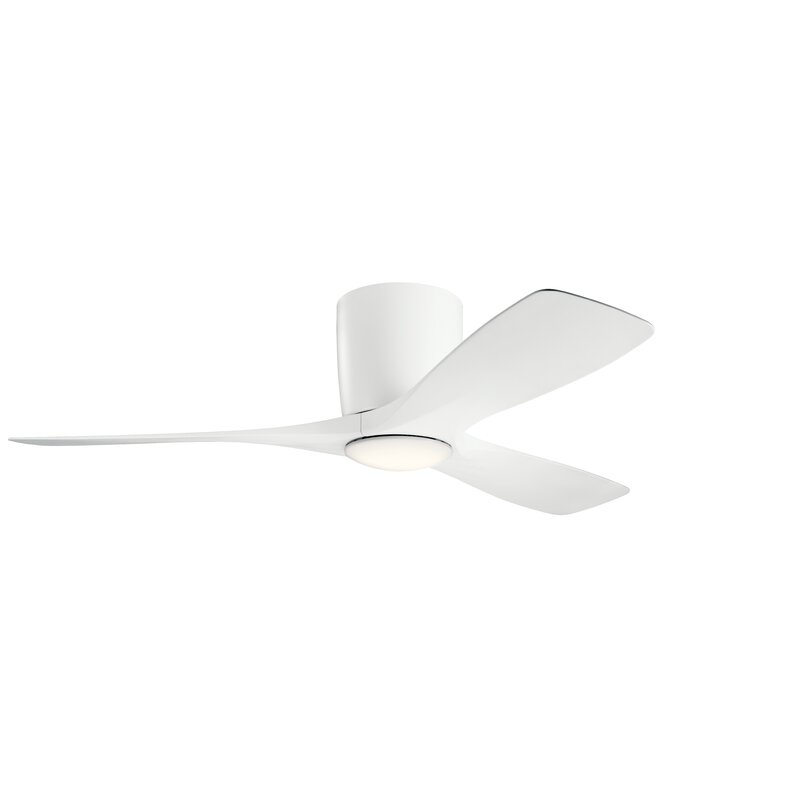 George Oliver 48 Mcgrew 3 Blade Led Standard Ceiling Fan With Wall Control And Light Kit Included Reviews Wayfair