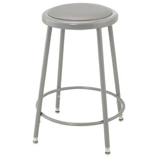Height Adjustable Upholstered Seat Stool