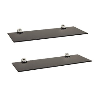 Brookhn Rectangle Glass Floating Shelf (Set of 2)