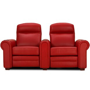 Red Barrel Studio Leather Home Theater Loveseat (Row of 2)