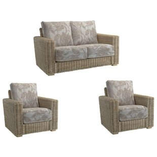 Compare Price Shamrock 3 Piece Conservatory Sofa Set