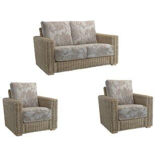Compare Price Shamrock 3 Piece Conservatory Sofa Set